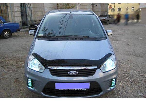 Мухабойка на капот Ford c-max 07-2010 , дефлектор на капот ford c-max