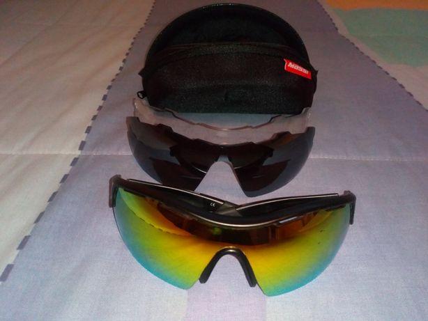Óculos ciclismo MASSI com 3 lentes