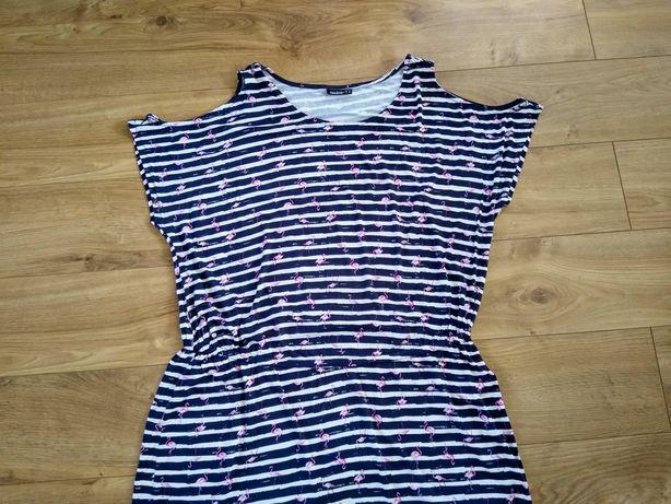Sukienka 46 XXL odkryte ramiona