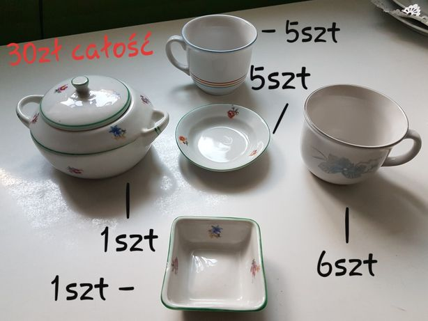 Akcesoria kuchenne kieliszki szklanki półmiski
