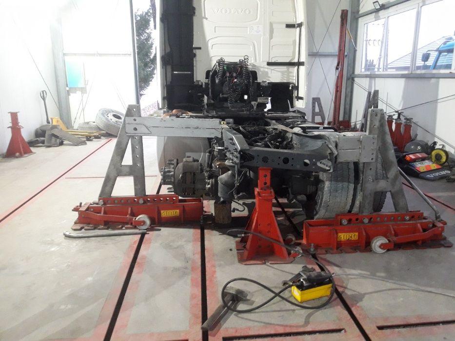 Prostowanie ram samochodów ciężarowych naczep geometria Kielc