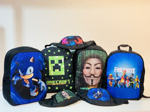 Рюкзак Бананка Minecraft Fortnite Sonic Anonymous ассортимент