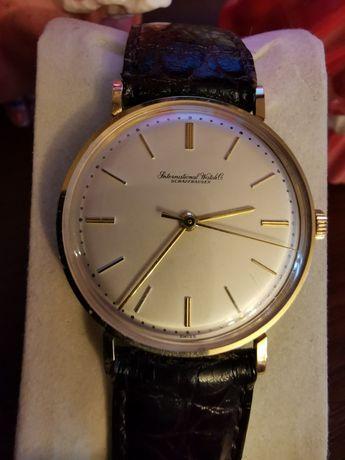 IWC, Złoto 14K, Schaffhausen, Jak Nowy, Szwajcarski zegarek, Oryginał