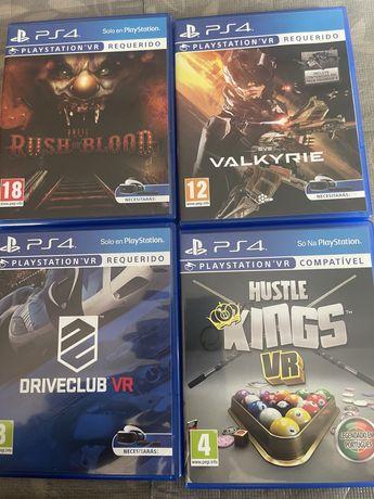 Jogos PS4/PSVR (como novos)