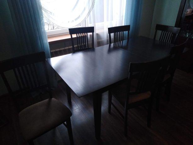 Stół rozkladany z krzesłami ki
