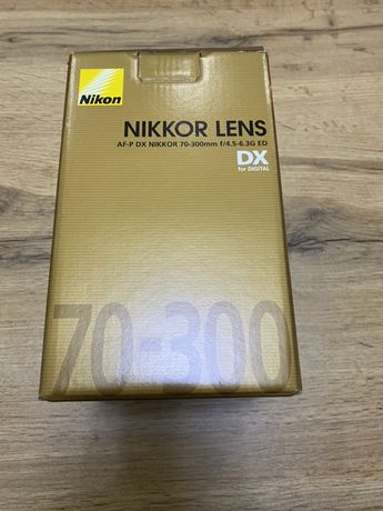 Obiektyw Nikkor AF-P DX 70-300mm f/4.5-6.3G ED