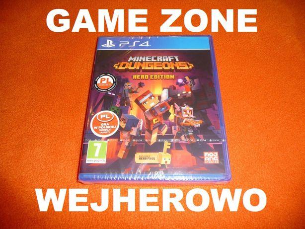Minecraft Dungeons Hero Edition PS4 + Slim + Pro = PŁYTA PL Wejherowo