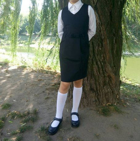 Сарафан школьный ostin+рубашка