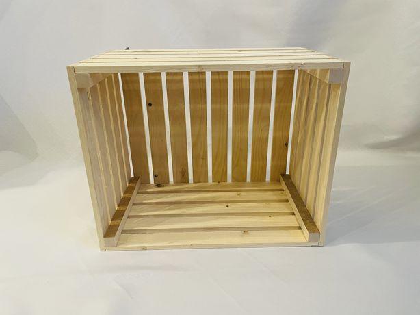 Skrzynka skrzynki drewniane sosnowa drewniana  50x40x30