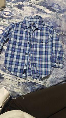Рубашка в клетку сорочка в клітинку синя  gap 2t