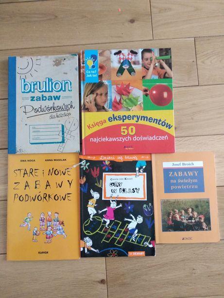 Książki dla kreatywnych dzieci rysunek gry podwórkowe brulion szydełko