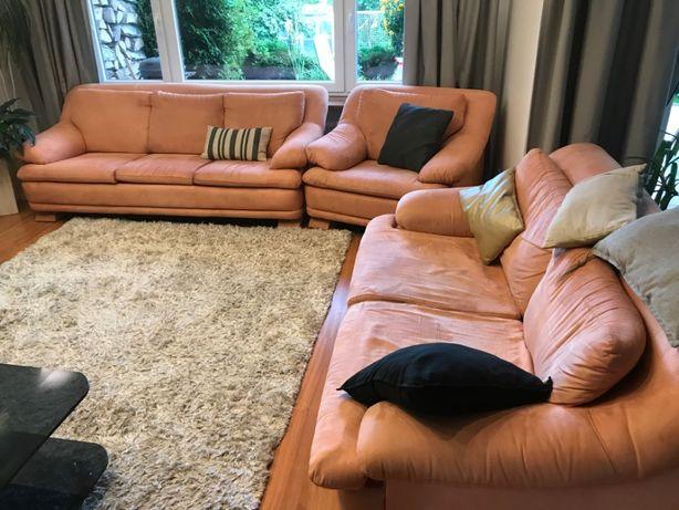 zestaw wypoczynkowy kanapy + fotel