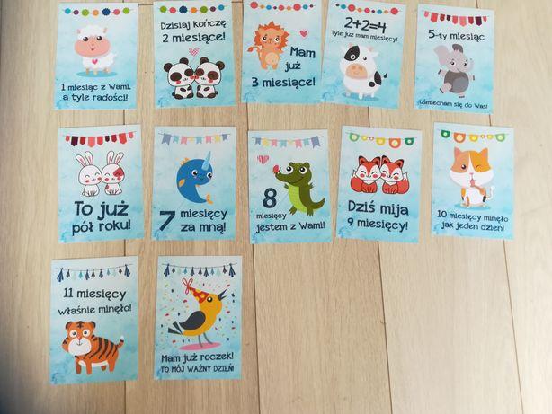 Karty do zdjęć dla niemowlaka