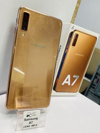 Samsung A7 2018 Złoty Piękny stan / Komplet / GWARANCJA
