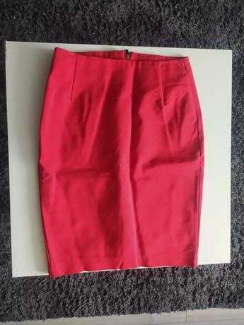 Czerwona spódnica ołówkowa wysoki stan Reserved