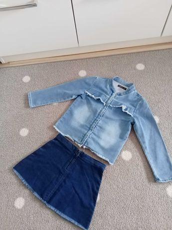 Jak nowa Reserved kurtka kurteczka jeansowa +spódniczka 116