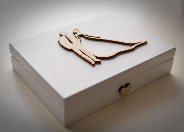 Pudełko/szkatułka na obrączki - ślub, wesele