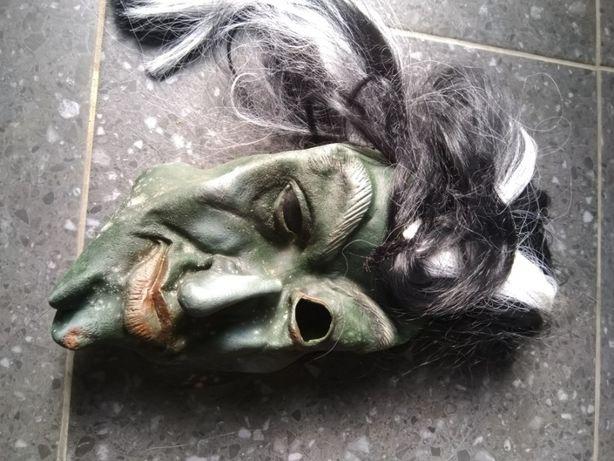 """Máscara """"Velho com Cara Verde e Cabelo"""", em silicone – Carnaval e Hall"""