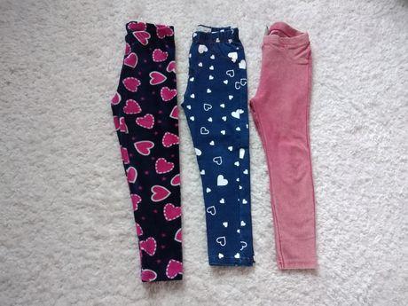 Spodnie tregginsy roz. 110 /116