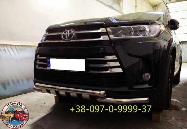 Кенгурятники пороги защита бампера дуги Toyota Highlander
