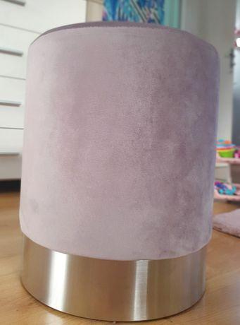 Pufa rozowo srebrna