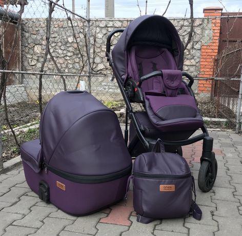 Коляска Anex cross 2в1 с рюкзаком + варежки