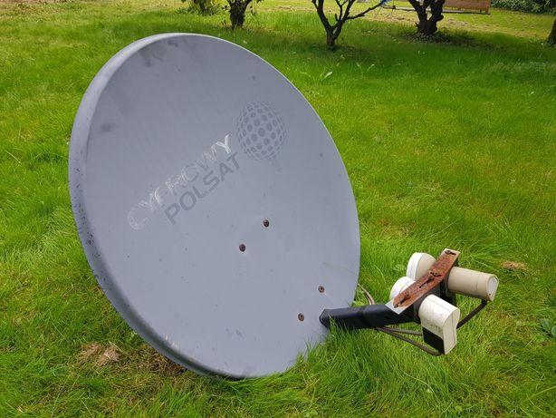 Talerz satelitarny z konwerterem