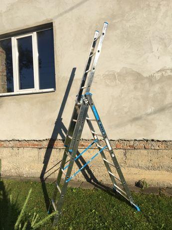 Алюминиевая лестница 3х7 3x7 Драбина  трьохсекційна Стремянка сад дом