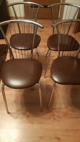 Krzesla 4 szt chrom