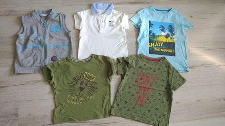 Paka letnich ubrań chłopięcych rozmiar 104-110