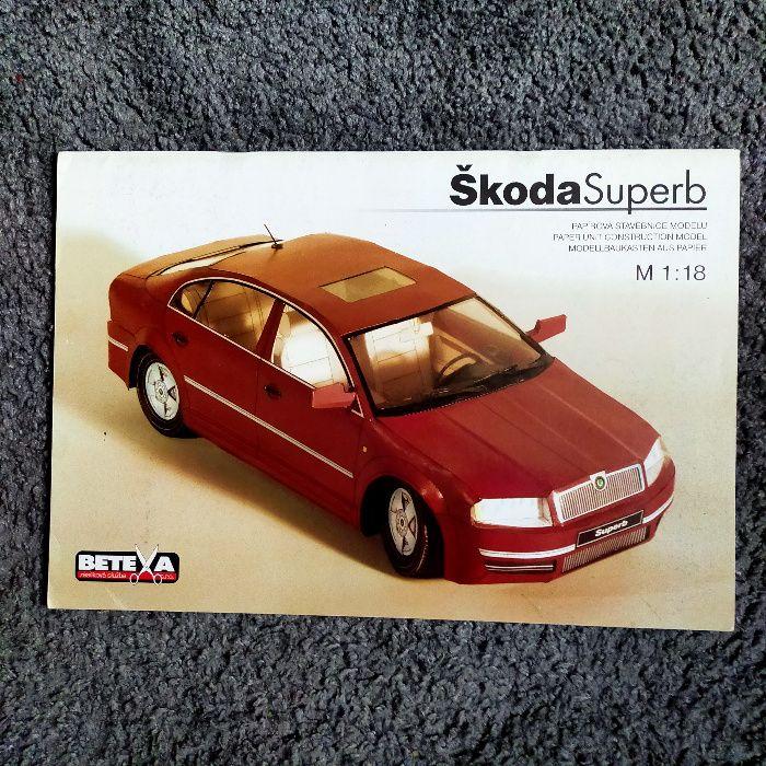 Model kartonowy Skoda Superb 1:18 wyd. Betexa Przemyśl - image 1