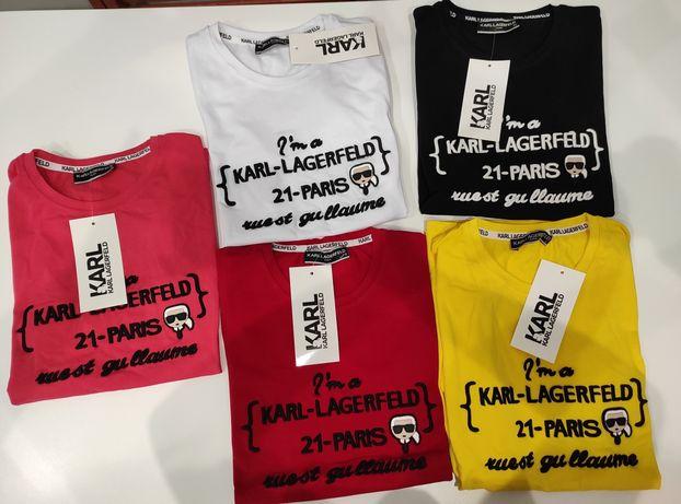 Koszulki Karl Lagerfeld Wyszywane Outlet Nowość S-XL Nowość