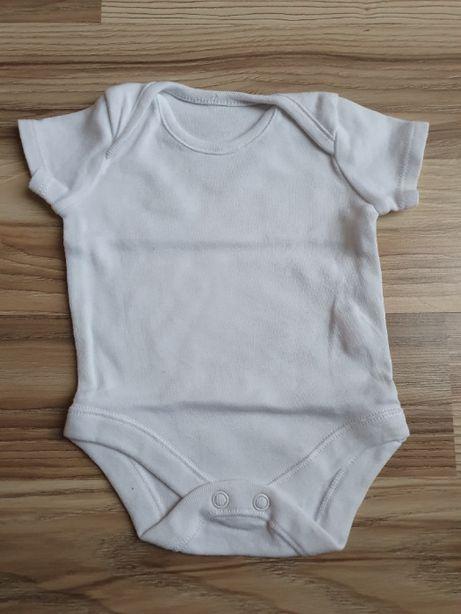 Białe bawełniane body z krótkim rękawem stan idealny rozmiar 50