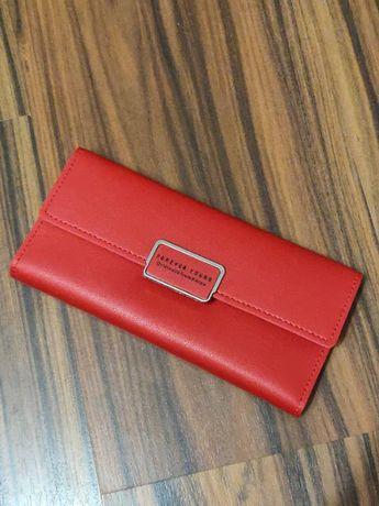 Красный женский кошелек портмоне гаманець визитница Новый!