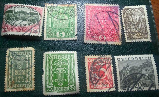 Коллекция марок Австрии 1908 - 1968 гг.