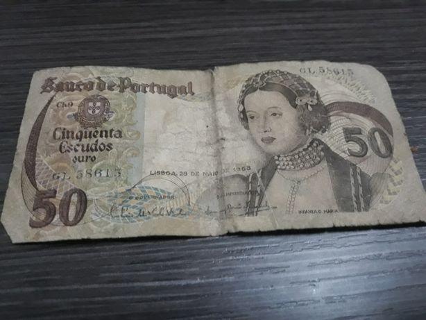 Nota de 50 escudos 1968