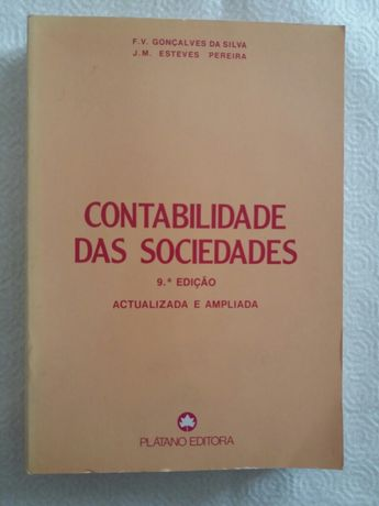 Contabilidade das Sociedades - Plátano Editora - 9ª edição