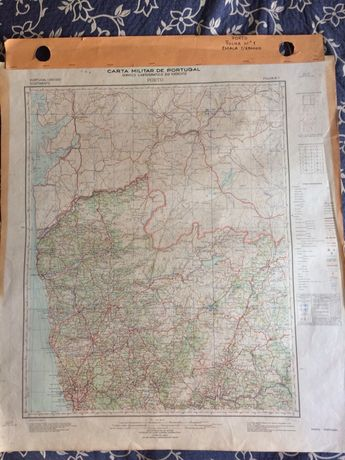 Conjunto das (8) Folhas da Carta Militar Portugal - 1:250.000