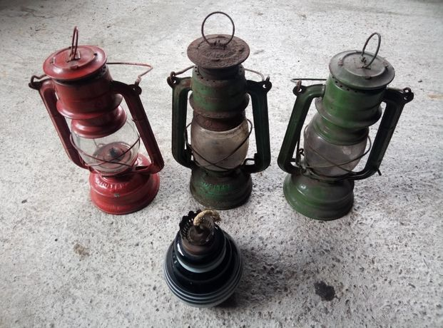 3 sztuki. Lampa naftowa Jupiter  PRL