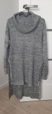 Sweter golf długi z tyłu