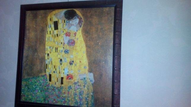 """Картина """"Поцелуй"""" Г. Климта 71х71см в раме"""