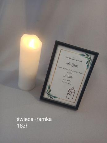 Weselna świeca dla nieobecnych