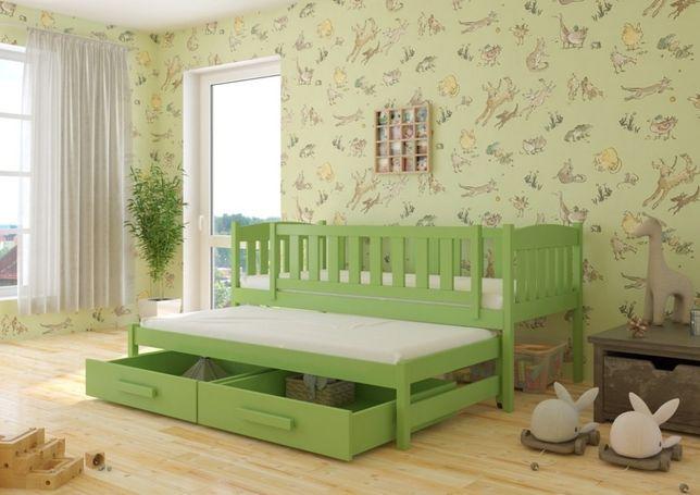 Łóżko dziecięce 2-osobowe HANIA . Wysyłka w 7 dni! Jakość Premium