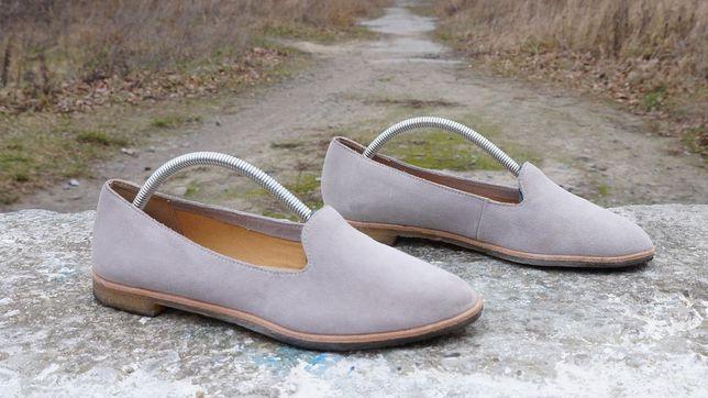 Круті замші лофери, туфлі Clarks Originals