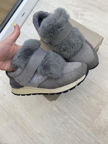 Утепленные кроссовки  на меху Brunello Cucinelli