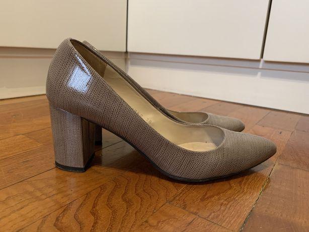 Sapatos de salto alto de pele nude - Gloria Ortiz