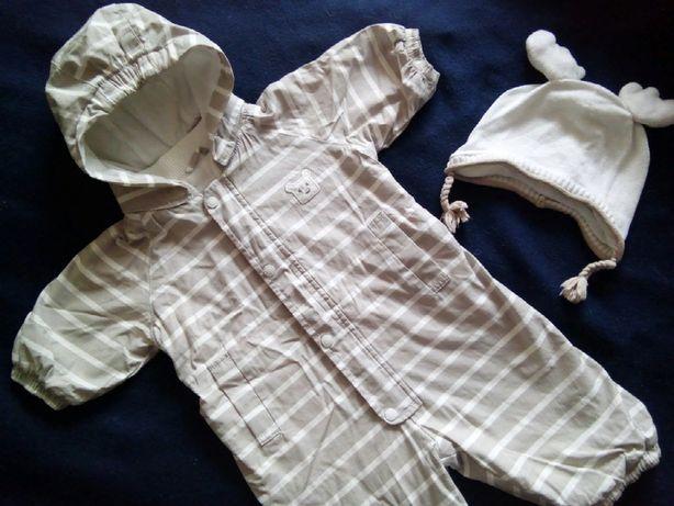 Весенний комбинезон на мальчика 3-6 месяцев+подарочек шапочка