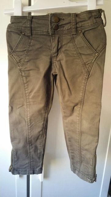 Spodnie Zara, sukienka jeans Next rozmiar 98