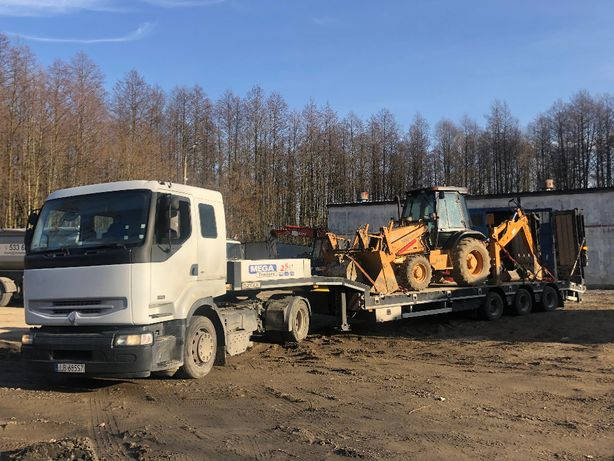 Transport niskopodwoziowy,maszyn budowlanych i rolniczych