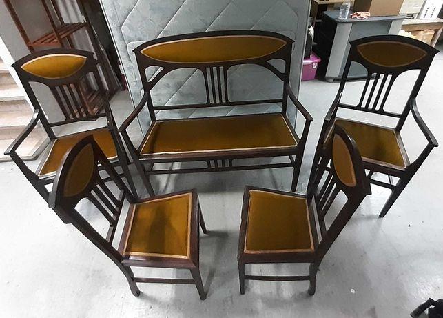 Retro Vintage Conj. Canapé 2 Cadeirões 2 Cadeiras